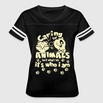 Caring For Animals T Shirt - Women's Vintage Sport T-Shirt