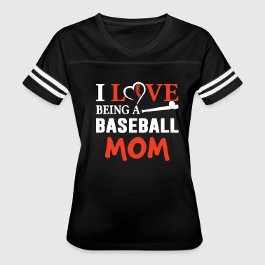 I Love Being Baseball Mom T Shirt - Women's Vintage Sport T-Shirt