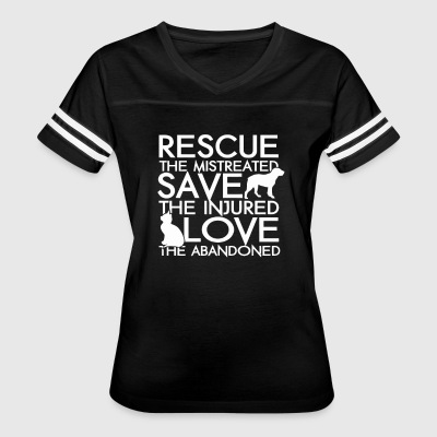 rescue the mistreated save the injurned love the a - Women's Vintage Sport T-Shirt
