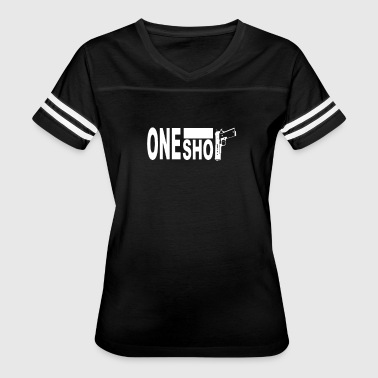 One Shot 9mm Fight - Women's Vintage Sport T-Shirt