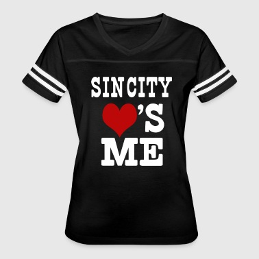 Sin City Loves Me - Women's Vintage Sport T-Shirt