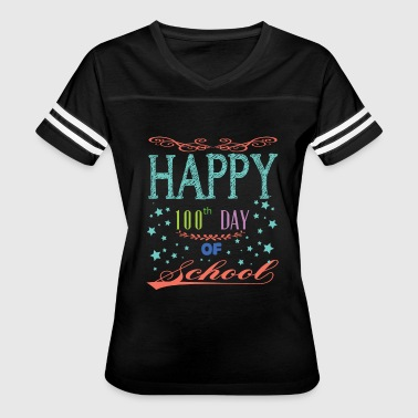 Happy 100th Day Of School T Shirt - Women's Vintage Sport T-Shirt