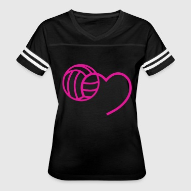 MY BALL IN MY HEART t-shirts - Women's Vintage Sport T-Shirt