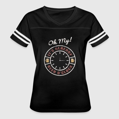 Oh my! It's already beer o'clock - Shirt design - Women's Vintage Sport T-Shirt