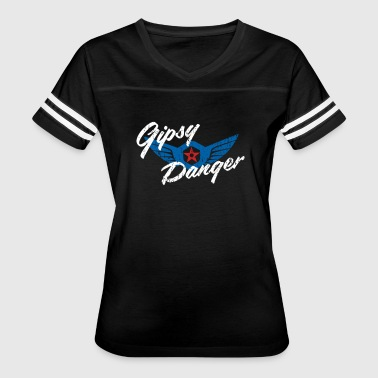 Gipsy Danger Distressed Logo in White - Women's Vintage Sport T-Shirt