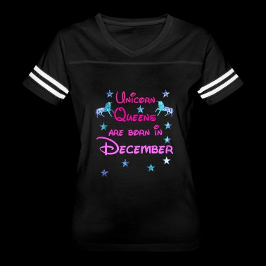 Unicorn Queens born December - Women's Vintage Sport T-Shirt