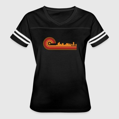 Retro Style Billings Montana Skyline - Women's Vintage Sport T-Shirt