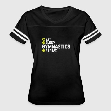 Eat, sleep, gymnastics, repeat - gift - Women's Vintage Sport T-Shirt