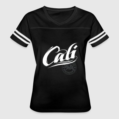 Cali California Curse State Bear Emblem Graphic - Women's Vintage Sport T-Shirt