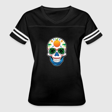 State of Florida Themed Sugar Skull - Women's Vintage Sport T-Shirt