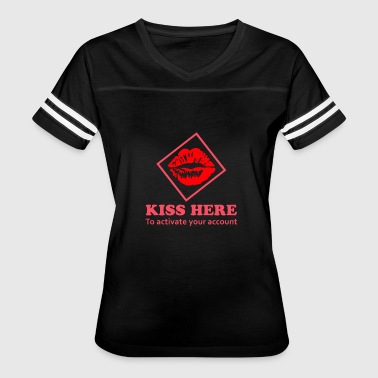 Kiss Here to activate your account - Women's Vintage Sport T-Shirt
