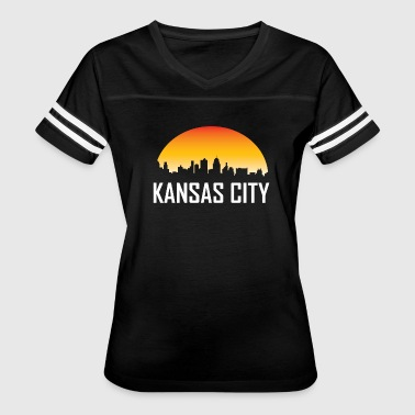 Kansas City Missouri Sunset Skyline - Women's Vintage Sport T-Shirt