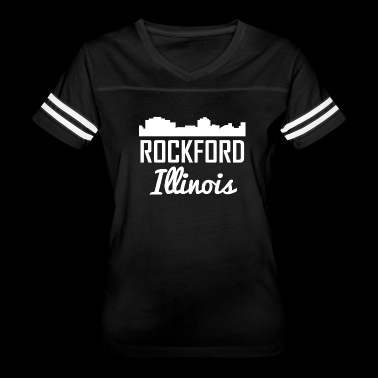 Rockford Illinois Skyline - Women's Vintage Sport T-Shirt