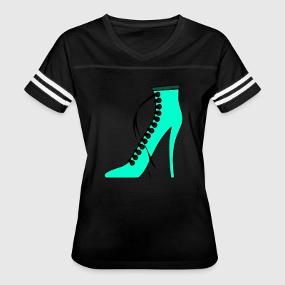 turquoise laced high heel boot - Women's Vintage Sport T-Shirt