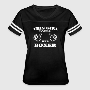 This Girl Loves Her Boxer - Women's Vintage Sport T-Shirt