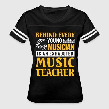 Musician is An Exhausted Music Teacher T Shirt - Women's Vintage Sport T-Shirt