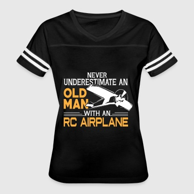 Old Man With An RC Airplane T Shirt - Women's Vintage Sport T-Shirt