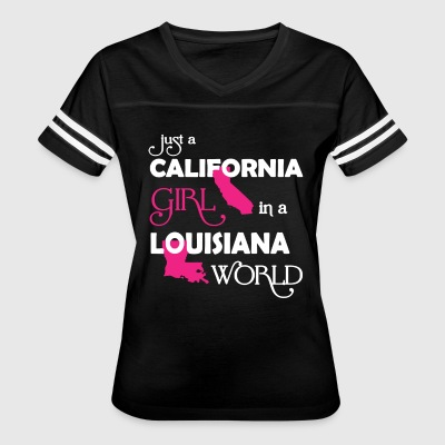 California Girl In A Louisiana World Shirt - Women's Vintage Sport T-Shirt