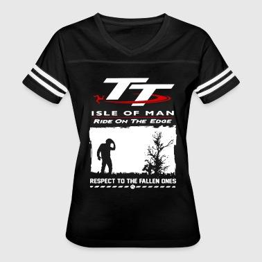 TT isle of man ride on the edge respect to the fal - Women's Vintage Sport T-Shirt