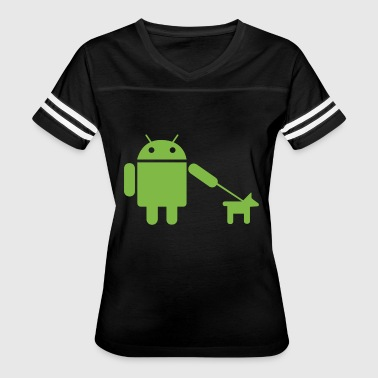 Android Dog - Women's Vintage Sport T-Shirt