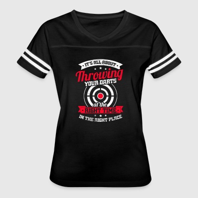 All about throwing your darts at the right time - Women's Vintage Sport T-Shirt