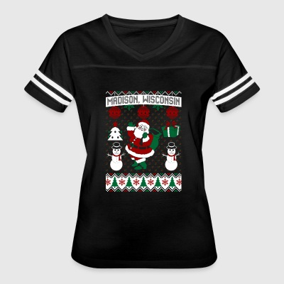 Christmas Ugly Sweater Madison Wisconsin - Women's Vintage Sport T-Shirt