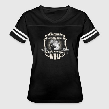 guardian angel wolf - Women's Vintage Sport T-Shirt