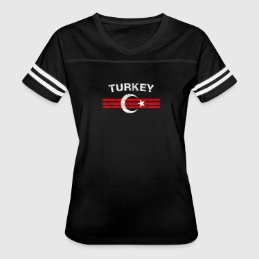 Turk Flag Shirt - Turk Emblem & Turkey Flag Shirt - Women's Vintage Sport T-Shirt