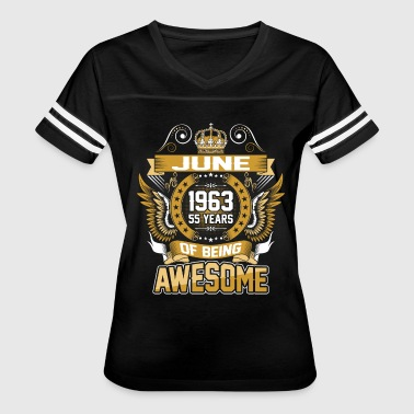 June 1963 55 Years Of Being Awesome - Women's Vintage Sport T-Shirt