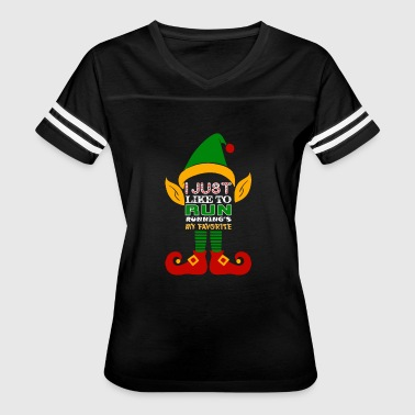 I Just Like To Run Runnings My Favorite - Women's Vintage Sport T-Shirt