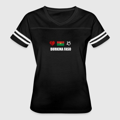Burkina Faso Football Shirt - Burkina Faso Soccer - Women's Vintage Sport T-Shirt