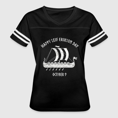 Happy Leif Erikson Day October 9 - Women's Vintage Sport T-Shirt