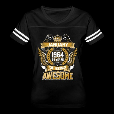 January 1964 54 Years Of Being Awesome - Women's Vintage Sport T-Shirt