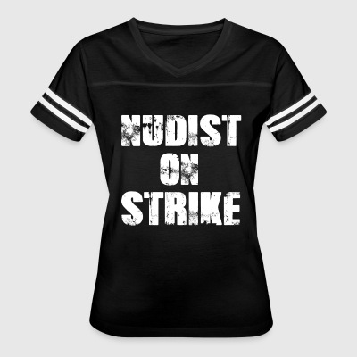 Nudist on Strike Funny Halloween Costume T-Shirt - Women's Vintage Sport T-Shirt