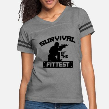 This Badass Survived Survival Of The Fittest - Women's Vintage Sport T-Shirt