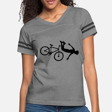 Design front over fall bike accident crash bike helmet bi - Women's Vintage Sport T-Shirt