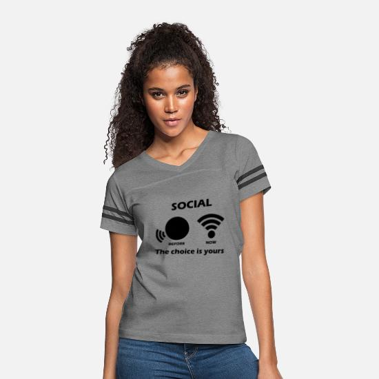 Social T-Shirts - Social - Women's Vintage Sport T-Shirt heather gray/charcoal