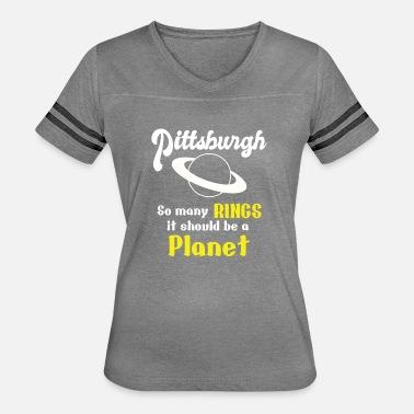 151759433 Pittsburgh So Many Rings T-shirt Women's Tri-Blend V-Neck T-Shirt ...