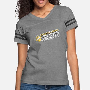 06ae1b13 Pitbull Tattoo Pitbull Mom Tattooed Educated Employed - Women's Vintage  Sport T