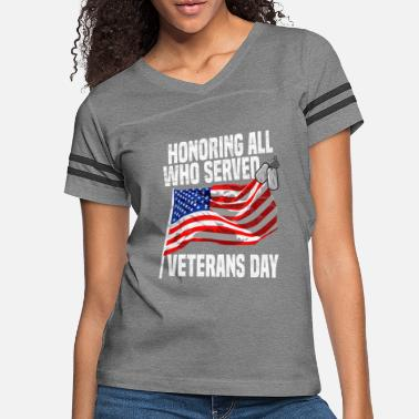 8dcc8b15 VETERAN - Honoring The Veterans - Women's Vintage Sport T-Shirt