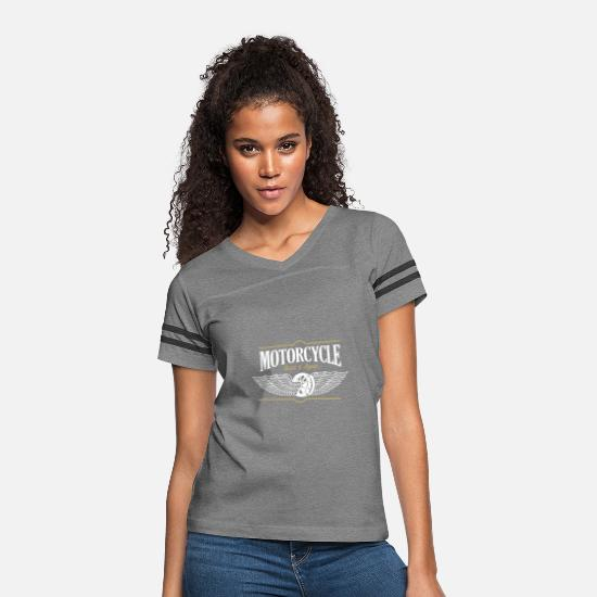 Motorcycle T-Shirts - MOTORCYCLE BUILD & REPAIR - Women's Vintage Sport T-Shirt heather gray/charcoal