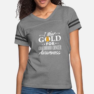 c954af06f90 I Wear Gold For Childhood Cancer Awareness - - Women's Vintage Sport.  New. Women's Vintage Sport T-Shirt