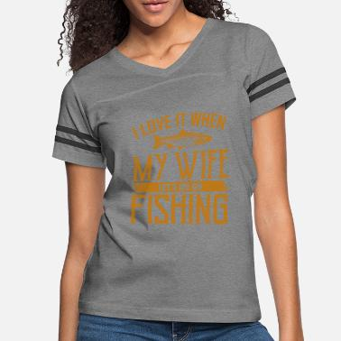 Suitcase I LOVE FISHING Novelty Fishing Gifts For Dad - Women's Vintage Sport T-Shirt