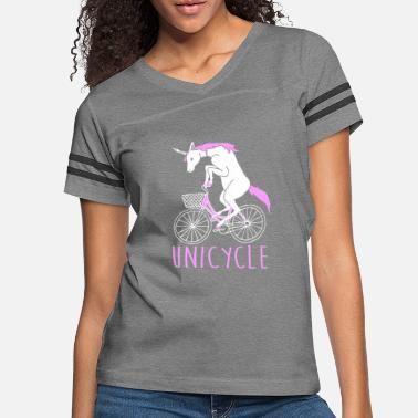 Cycling Unicycle Unicorn on a Bicycle - Women's Vintage Sport T-Shirt