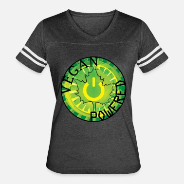 Swol Vegan Power Button - Women's Vintage Sport T-Shirt