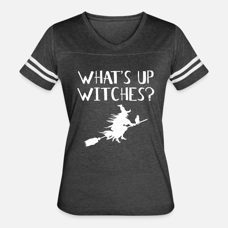 Up T-Shirts - WHAT'S UP WITCHES? - Women's Vintage Sport T-Shirt vintage smoke/white