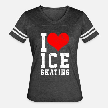 I Love Ice Skating I love ice skating - Women's Vintage Sport T-Shirt