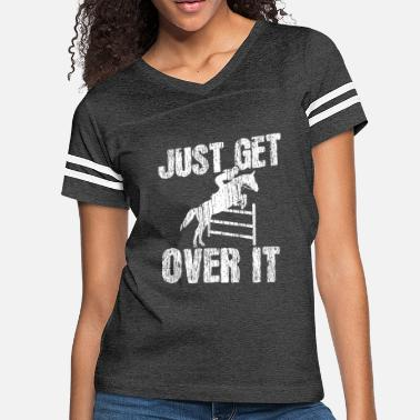 Jumping Show Jumping Equestrian Horse Show - Women's Vintage Sport T-Shirt