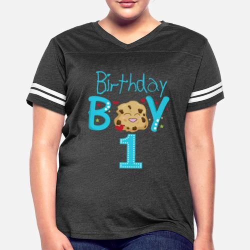 Birthday Boy 1 Year Old Shirt Womens Vintage Sport T