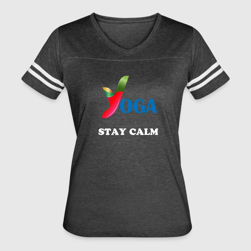t-shirt with yoga design - Women's Vintage Sport T-Shirt
